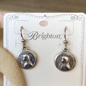 Brighton Joan of Arc Earrings NWT